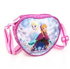 Premium Disney Frozen Heart Shaped Girls Shoulder Messenger School Bag Anna Elsa