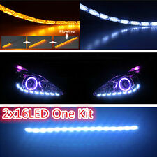 2x 12V Sequential Flowing Dynamic Turn Signal Switchback LED Strip Lights NEW in