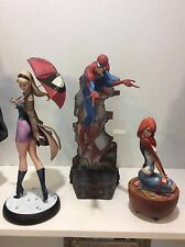 Sideshow Spiderman Comiquette Statues Set Of 3 J. Scott Campbell