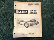 985086 - A New Original Operators Manual For A New Idea No.201 Manure Spreader
