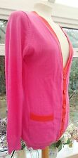 DEANE & WHITE 100% MERINO WOOL PINK CARDIGAN SIZE 14 GREAT CONDITION
