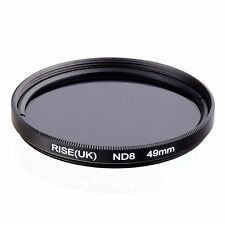 RISE(UK) 49MM 49mm Neutral Density ND8 filter for ALL DSLR SLR Camera lens