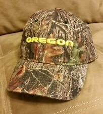 NEW OREGON DUCKS GREEN CAMO HUNTING CAP HAT STITCHED LOGO ONE SIZE FITS