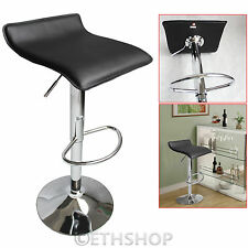 FAUX LEATHER BAR STOOLS GAS LIFT BARSTOOLS BREAKFAST KITCHEN OBLATE CHROME STOOL