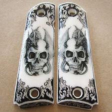 1911 Grips Fit Colt Kimber Clone Skull Dragon Custom Resin Pistol Grip Full Size