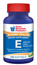 GNP Water Dispersible Vitamin E 400 IU Supplement 100 softgel