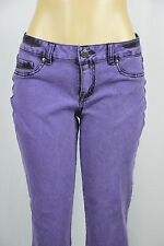 LEI Juniors 13 Emma Jegging Purple Black Skinny Jeans Leggins Colored Stretch