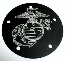 CUSTOM ENGRAVED 5 HOLE TIMING POINT COVER USMC EGA FITS HARLEY DAVIDSON BIG TWIN