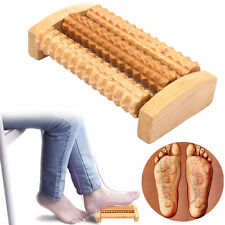 Handheld Wooden Roller Massager Reflexology Hand Foot Back Body Therapy Relax