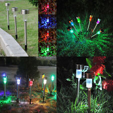 10X Color Changing Outdoor Garden LED Solar Powered Landscape Lights Lawn Lamp