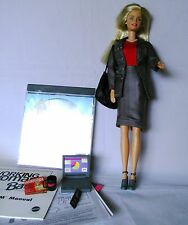 BARBIE DOLL WORKING WOMAN GREY SUIT CD + EXTRAS