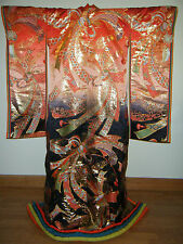 Gorgeous Black & Gold Japanese Juni Hitoe Style Uchikake Wedding Kimono