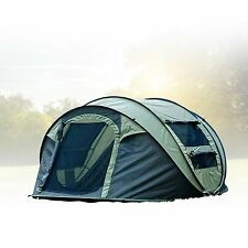 FiveJoy Instant 4-Person Pop Up Tent - Set Up in Lightning Speed Easy Fol... New