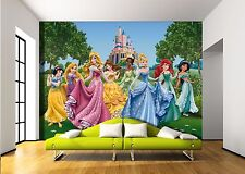 BIG Wall Mural Photo Wallpaper PRINCESSES CASTLE MEADOW Girls Room Decor 360x254