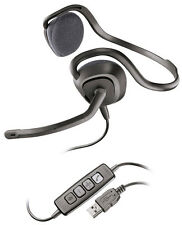 Plantronics AUDIO648 PC Skype USB Stereo Headset Black (New & Sealed)