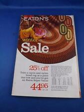 CATALOGUE EATONS VINTAGE DEPARTMENT STORE CLOTHES GIFTS 1969-70 WINTER SALE