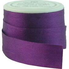 6 YDS (5 M) EMBROIDERY SILK RIBBON 100% SILK 13MM - PURPLE PASSION -by THREADART