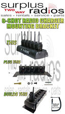 Vehicle and Wall Mounting Bracket For Slim 6-Unit Battery Charger Motorola