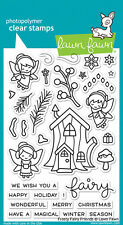 Lawn Fawn Clear Acrylic Stamps Frosty Fairy Friends lf1224  2016