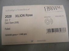sealed package,1440 swarovski flatbacks,7ss dark siam /foiled #2028