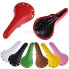 7 Colors Riveted Leather Fixed Gear Fixie Bike Track Bicycle Cycling Saddle Seat