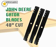 "3 x GATOR mower blades suit JOHN DEERE 48"" deck models - very, very hard blade"