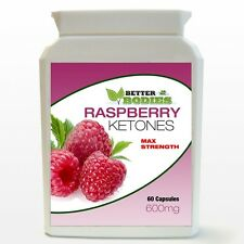 60 STRONG RASPBERRY KETONE MAX STRENGTH 600MG BOTTLE DIET 2 MONTH SUPPLY
