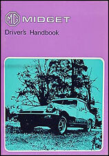 MG Midget Owners Manual 1975 1976 1977 1978 US Drivers Handbook Owner Guide Book