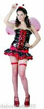 Ladybird Costume Adult Ladies Ladybug Insect Fancy Dress Outfit Size 12 14 16