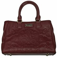 Loungefly Sugar Skull Vegan Burgundy Shoulder Bag Handbag Purse LFTB0556