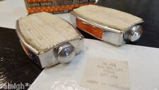 "NOS (in the box) 9/16"" White Raleigh Fireball Chopper Muscle Bike Bow Pedals"