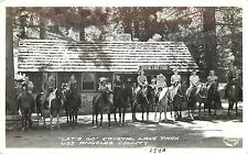 Vintage RPPC Real Photo Postcard Crystal Lake Store CA California Angeles Forest