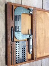 "NICE SWISS TESA 2 - 3 .001 "" THREAD MICROMETER  & CASE"