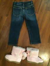 Girls 2t 24 Months And Size 6 Gap Skinny Jeans Faded Glory Boots Lot