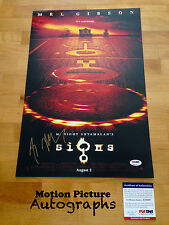 M. NIGHT SHYAMALAN SIGNED 12X18 PHOTO AUTOGRAPH PSA DNA COA SIGNS