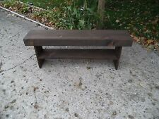"HANDMADE PRIMITIVE WOODEN BENCH W SHELF FARM HOUSE STYLE  48"" NARROW BENCH"