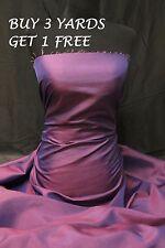 Pink Purple Taffeta Two 2 Tone dress weddings curtain lining fabric material