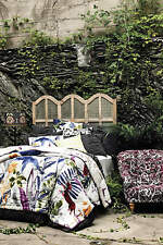 NEW ANTHROPOLOGIE ~ Creature Hideaway TWIN QUILT 5 PC SET ~ 4 Shams  Flora Fauna
