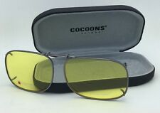 New COCOONS Yellow Sunglasses/Eyeglasses Over Rx Clip-on SQR 2-56 Gunmetal Frame