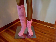 Slouch Knee Socks Pink for Hooters Uniform Cheerleaders halloween costume