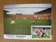 15/06/1986 World Cup Postcard: 2nd Round - Russia v Belgium (stamped/franked - B