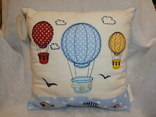 HOT AIR BALLOONS PATTERNED CUSHION AND CUSHION COVER COMPLETE ~ WITH POLKA DOTS