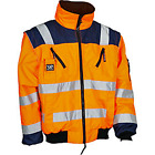 WENAAS HI VIZ BOMBER JACKET, DETACHABLE ARMS, ZIP OUT QUILT LINING,TOP QUALITY