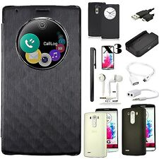 12 in 1 Accessory Bundle Leather Case Cover Dock Charge OTG Cable For LG G4