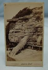 LOVERS' SEAT HASTINGS ANTIQUE CDV PHOTOGRAPH CARTE DE VISITE JW THOMAS SUSSEX*