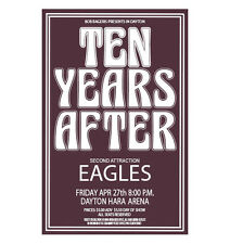 Ten Years After / Eagles 1973 Dayton Concert Poster