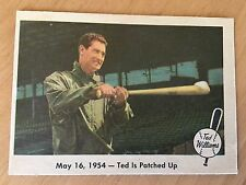 1959 Fleer Baseball Card #51 Ted Williams Boston Red Sox Ted Is Patched Up EX/MT