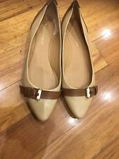 CHARLES & KEITH Flats Shoes size 40 Yellow Leather Good Condition