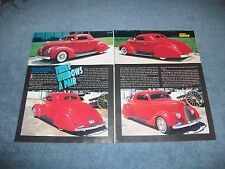 "1936 & 1938 Ford 3-Window Coupe Vintage Customs Article ""Three-Windows A Pair"""