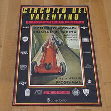 CIRCUITO DEL VALENTINO poster manifesto affiche Auto Torino Old Car 1985